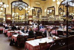 Restaurant Le Bouillon Chartier - Chartier is over 100 years old, and serves budget conscious, unpretentious brasserie style French food in a fantastic fin-de-siècle dining room that is an official listed historic building