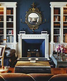 Love the wall color. Markham Roberts via Design Chic