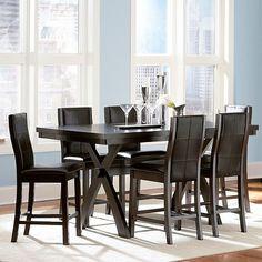 7 Piece Kilmer Counter Height Dining Set Espresso Wood - Homelegance : Target