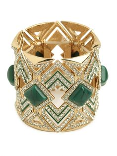 Art Deco Jade and Diamond Cuff
