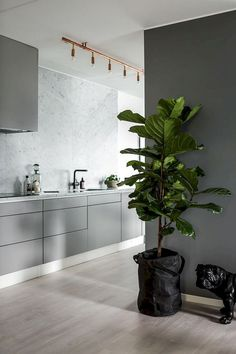 10 Cheap And Easy Cool Tips: Modern Minimalist Bedroom Decor minimalist kitchen white black cabinets.Modern Minimalist Kitchen Herringbone Floors minimalist home architecture stairs. Interior Simple, Interior Design Kitchen, Interior Ideas, Interior Plants, Küchen Design, House Design, Design Ideas, Wood Design, Modern Design