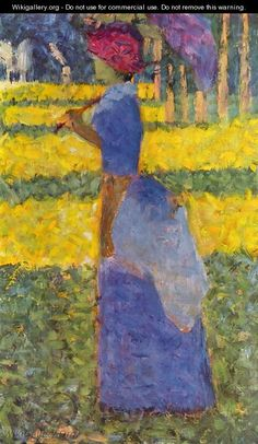 | woman with umbrella - Georges Seurat