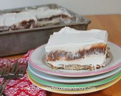 Fat Man's Delight-luscious layers of cheesecake filling, chocolate pudding and cool whip all on top of a pecan crust. Can easily be made low sugar/calorie. We have to talk about this dessert. I can't stand the name, Fat Man's Delight. Honestly, I feel like I'm being insulting, so everyone, please do not take offence. I...