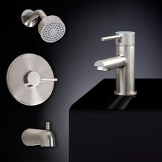 Rotunda Tub and Shower Set #8- Straight Spout Single-Hole Faucet- No Overflow- Dark Bronze