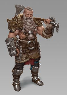 character concept human male axe wield Barbarian concept , Joris Dewolf on ArtStation at… Fantasy Dwarf, Fantasy Male, Fantasy Armor, Medieval Fantasy, Dungeons And Dragons Characters, Dnd Characters, Fantasy Characters, Fantasy Character Design, Character Concept