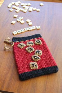 """""""Two Wordy"""" Game Bag Digital Crochet Pattern from Love of Crochet magazine's Holiday Crochet 2014 Issue - An easy bag pattern, perfect for beginners"""
