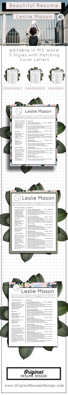 Resume templates with matching cover letters for inspiration Resume Tips, Resume Cv, Resume Writing, Resume Design, Resume 2017, Mail Writing, Resume Ideas, Resume Format, Resume Examples