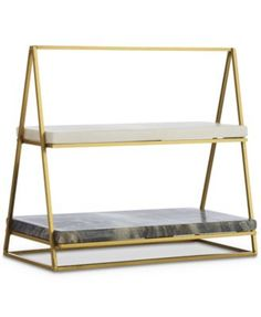 A sleek iron stand supports the Hotel Collection two-tier server's shelves that feature two tones of marble providing cool ways to display chilled foods. Tiered Server, Modern Dinnerware, Stylish Beds, Kitchen Stools, Kitchen Dishes, Space Furniture, Home And Deco, Serveware, Home Accessories