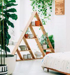 Description will be add shortly Decor, Furniture, Shelves, Interior, Triangle Shelf, Ladder Decor, Home Decor, House Interior, Copper And Pink