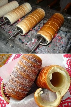 Hungarian Chimney Cake.  At the castle we searched hight and low until we got one of these in our mouths.  Mmmm.  It was well worth the search.