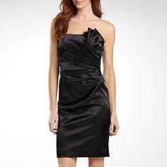 London Style Nights Strapless Satin Dress - jcpenney