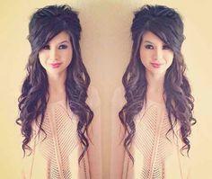 Wie mache ich meine Haare und Make-up? - Wedding hairstyles half up half down Love Hair, Great Hair, Big Hair, Gorgeous Hair, Awesome Hair, My Hairstyle, Pretty Hairstyles, Wedding Hairstyles, Summer Hairstyles
