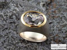 Ring, Prasiolith in Gold und Silber  von Schmuckbotschaften auf DaWanda.com