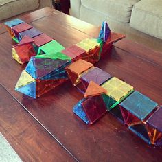 Magna-Tiles are fun for adults, too! My husband put this Magna-Tiles airplane together By Magna-Tect toddler_mom