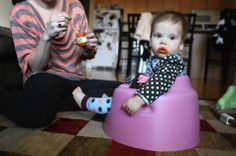 Physical Therapists don't like walkers, exercise saucers, bouncy seats, and baby bumbo seats.