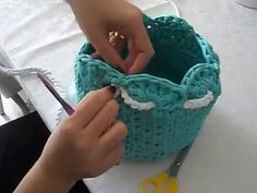 DIY Crochet Round Basket with Cotton Rope 3 | Penye ipten Yuvarlak Sepet Yapımı 3 - YouTube