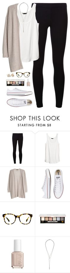 """1.1.15"" by classically-preppy ❤ liked on Polyvore featuring James Perse, H&M, MANGO, Converse, Warby Parker, Bobbi Brown Cosmetics, Essie, Kate Spade and CO"