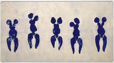 ANT 82, Anthropométrie de l'époque bleue, Yves Klein, 1960, Pigment pur et résine synthétique sur papier marouflé sur toile, 156.5 x 282.5 cm