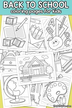 Back To School Coloring Pages For Kids 10 Free Printable