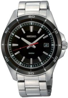 Seiko Men's SGEE91 Classic Stainless Steel Bracelet Watch #Seiko #Mens #SGEE91 #Classic #Stainless #Steel #Bracelet #Watch