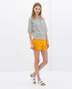 Image 1 of HIGH WAIST SHORTS from Zara