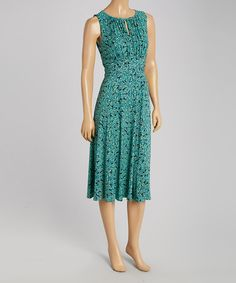 Another great find on #zulily! Sea Glass Keyhole Sleeveless Maxi Dress by Danny & Nicole #zulilyfinds