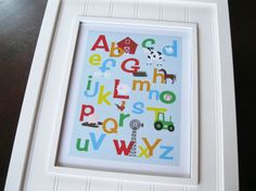 Alphabet and Number Prints Set of Two FARM by invitemedesigns, $49.00