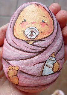Le creazioni di fio: sassi dipinti