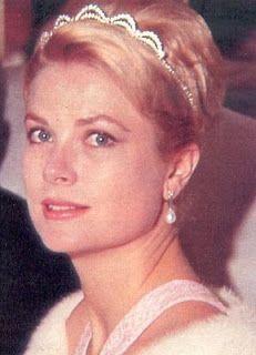 Princess Grace of Monaco wearing her small diamond tiara.