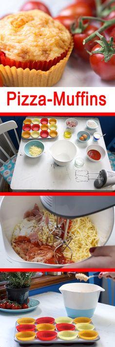 Lecker! Diese Pizza-Muffins können Sie ganz leicht selbst backen. Hier gibt es die Anleitung: www.bildderfrau.de/videos-rezepte/pizzamuffins-n254925.html