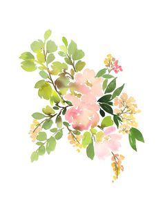 Spring Art perfect for easter celebration decor or an easter gift - Flora in Peach II by Yao Cheng for Minted