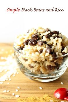 This versatile and easy black beans and rice recipe goes great with just about any meat, or add diced chicken or sausage to make a one-dish meal.