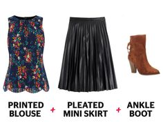 Grab your floral peplum top and wear it with an a-line skirt—it'll flatter your waistline in the best way possible while adding just the right girly touch.    - Redbook.com