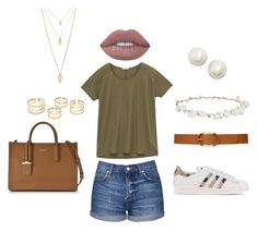 """""""Casual Day"""" by fearlesscy on Polyvore featuring Topshop, Lee, Lauren Ralph Lauren, adidas Originals, Robert Rose, DKNY, Forever 21, Kate Spade and Lime Crime"""