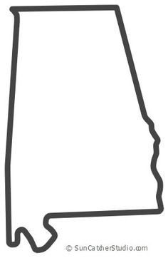 Free Alabama outline with HOME on border, cricut or Silhouette design, vector image, pattern, map shape cutting file. Map Outline, State Outline, Alabama College Football, American Football, Alabama Shirts, Fall Preschool, Silhouette Design, Silhouette Cameo