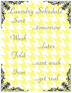 Laundry Room Printable
