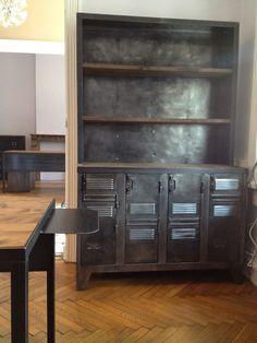 porte revues industriel m tal argent meuble industriel pinterest porte revues industriel. Black Bedroom Furniture Sets. Home Design Ideas