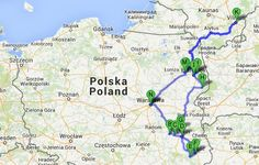 The route during PO Kingdom of Poland Tour. Find out more about the itinerary: http://polishorigins.com/document/kingdom_tour