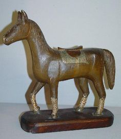 Carved wooden horse http://www.liveauctioneers.com/item/542962