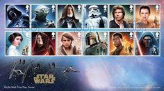 Royal Mail anuncia una docena de sellos de personajes Star Wars con motivo de Star Wars: El Despertar de la Fuerza y más