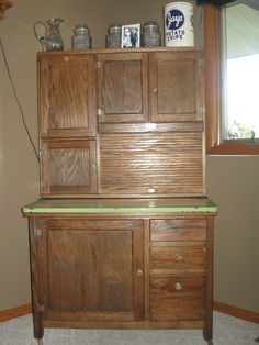 1930u0027s Boone Hoosier Cabinet Fully restored & 1643 best Hoosier cabinet images on Pinterest | Kitchen cupboards ...
