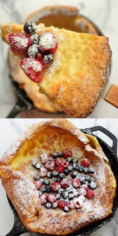 Breakfast Bake, Breakfast Recipes, Dessert Recipes, Dinner Recipes, Dutch Baby Pancake, Delicious Desserts, Yummy Food, Food To Make, Easy Cooking