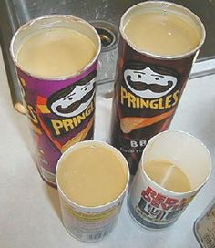 Since I'm the Pringle Can queen  this is a good DIY Idea 4 me WooHoo!  round soap mold idea herbal soap