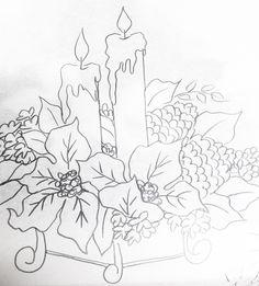 Resultado de imagem para flores de natal para pintura em tecido
