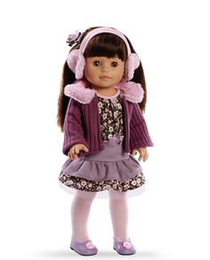 Norma, Soy Tu Doll, Paola Reina America, Multicultural dolls, brown haired doll, ear muffs, Adorable outfit, 100% Made in Spain, Made in Europe