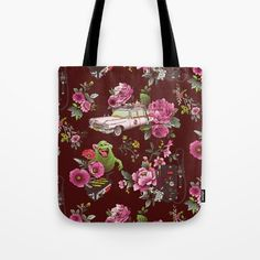 Ecto Floral tote bag by Josh Ln Floral Tote Bags, Ted Baker, Reusable Tote Bags, Ghost Busters, Handbags, Totes, Accessories, Hand Bags, Tote Bag