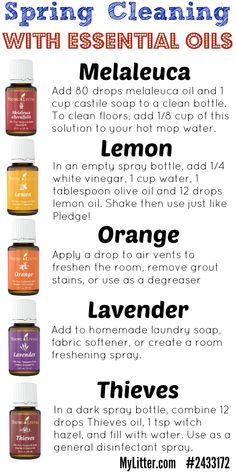 Use essential oils instead of toxic cleaners for your spring cleaning this year!  Nothing like a sparkling clean house using homemade cleaners and saving a bit by making them yourself!