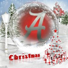 A Roll Tide Christmas Crimson Tide Football, Alabama Football, Alabama Crimson Tide, Merry Christmas Pictures, All Things Christmas, Christmas Wreaths, Christmas Bulbs, Stylish Alphabets, Football Wallpaper