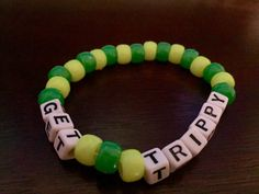 Get Trippy Kandi Bracelet by KandilandUSA on Etsy
