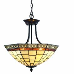 ZLite Z1835SF Prairie Garden 3 Light SemiFlush Mount Metal Frame Chestnut Bronze Finish and Multi Color Tiffany Shade of Glass Material * Check out the image by visiting the link.